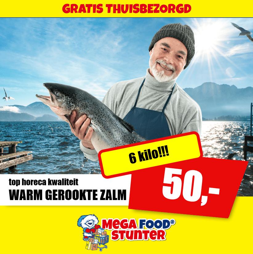 Warm Gerookte Zalm – 6 kg @Megafoodstunter