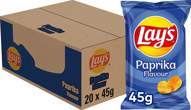 Doritos Nacho Cheese (12x272gr) / Lays Paprika (20x45gr) / Lays Naturel (12x335gr)