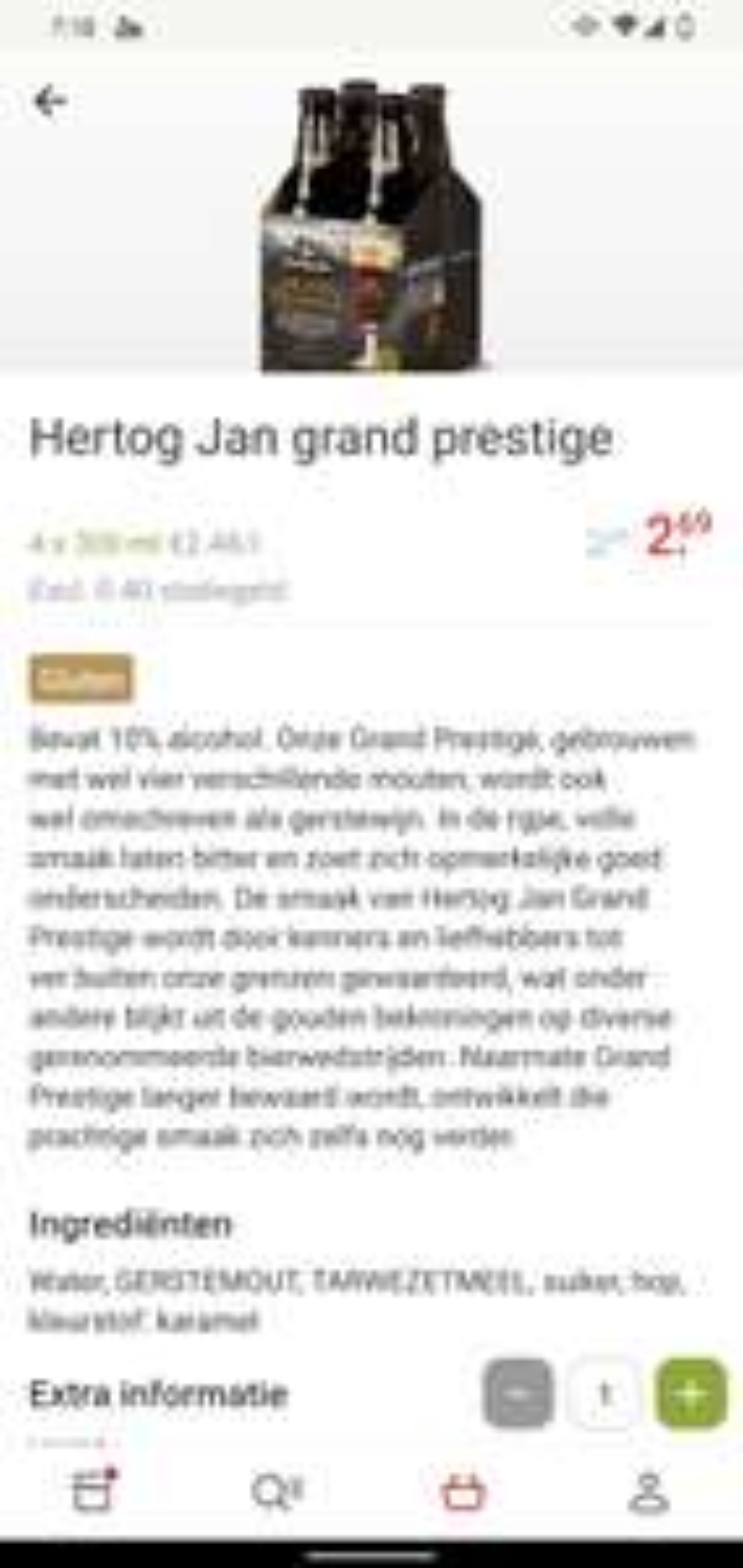 Hertog Jan Grand Prestige 4-pak 300ml @Picnic