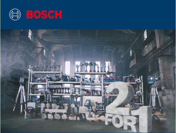 Tweede product gratis bij aankoop 18V-gereedschap van Bosch Professional vanaf €240,79 (€199 excl. btw)