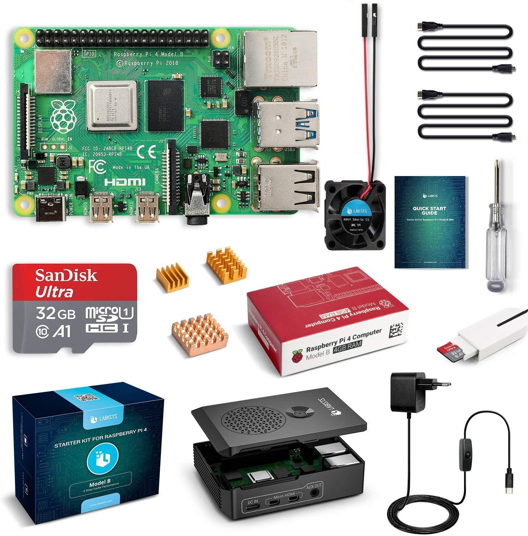 Labists Raspberry Pi 4 (4GB) Kit