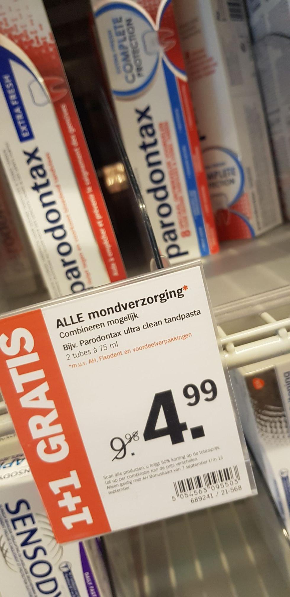 Parodontax €2,50 per stuk!