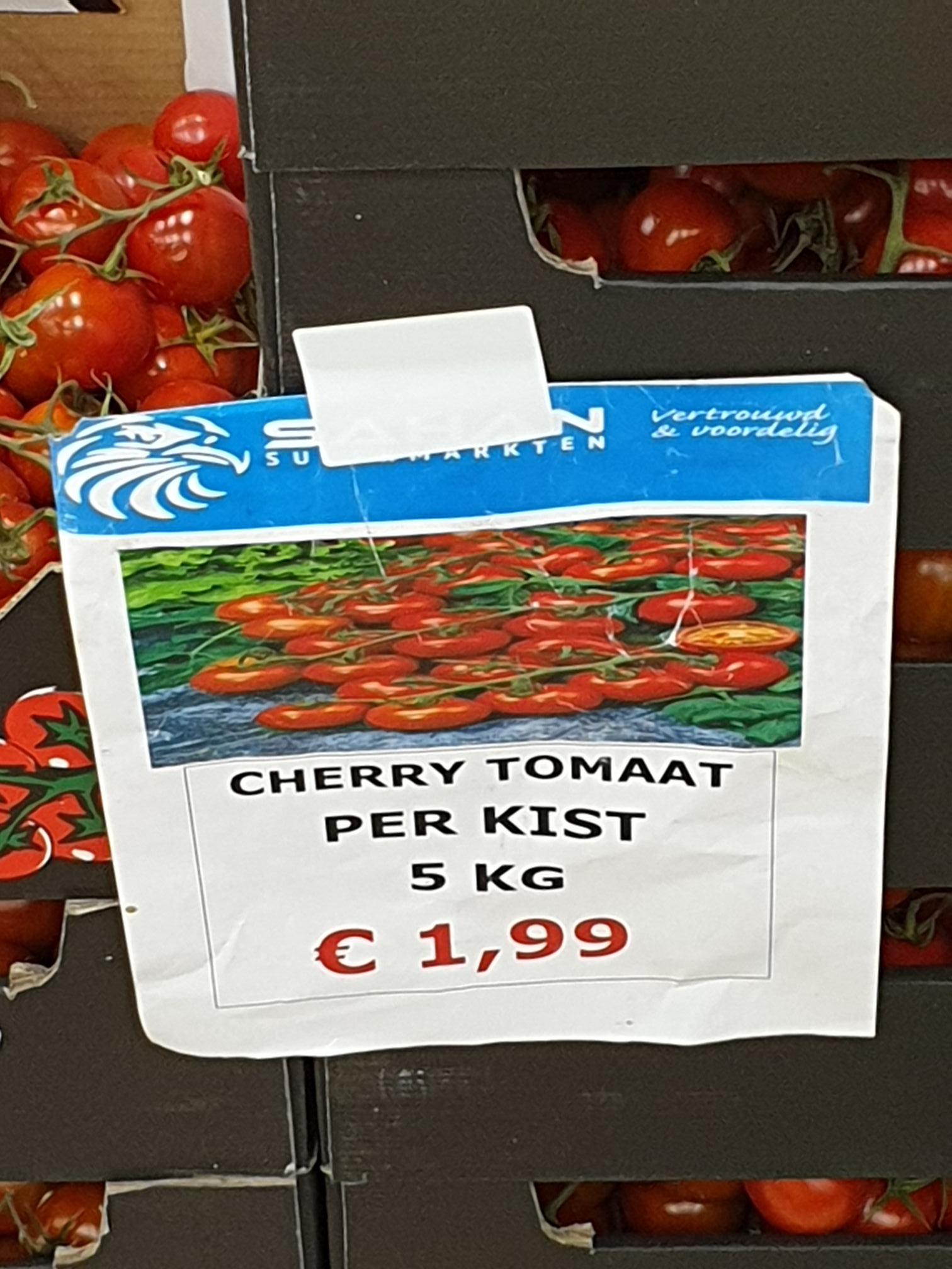 [Waalwijk] 5kg cherrytomaten €1,99