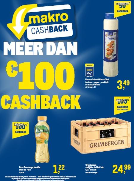 [BELGIË] €100 cashback op geselecteerde producten (o.a. bier) @Makro