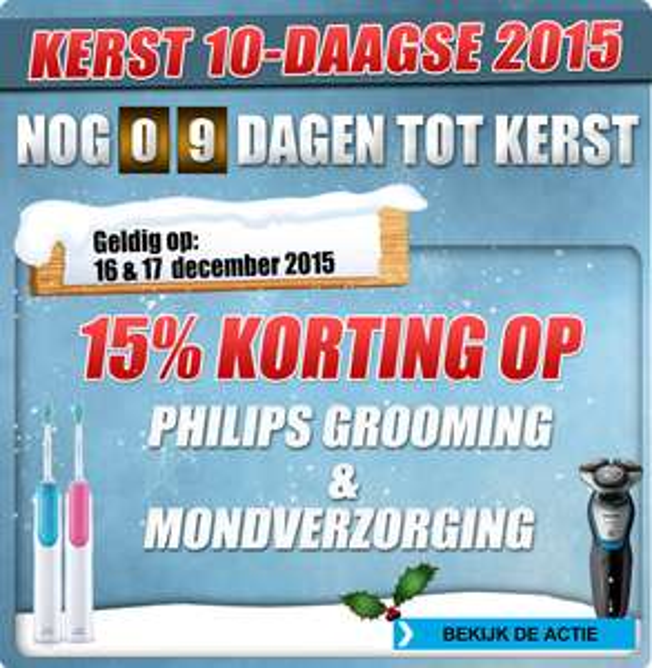 15% korting op Philips grooming en mondverzorging (evt. nog cashback) @ Bobshop