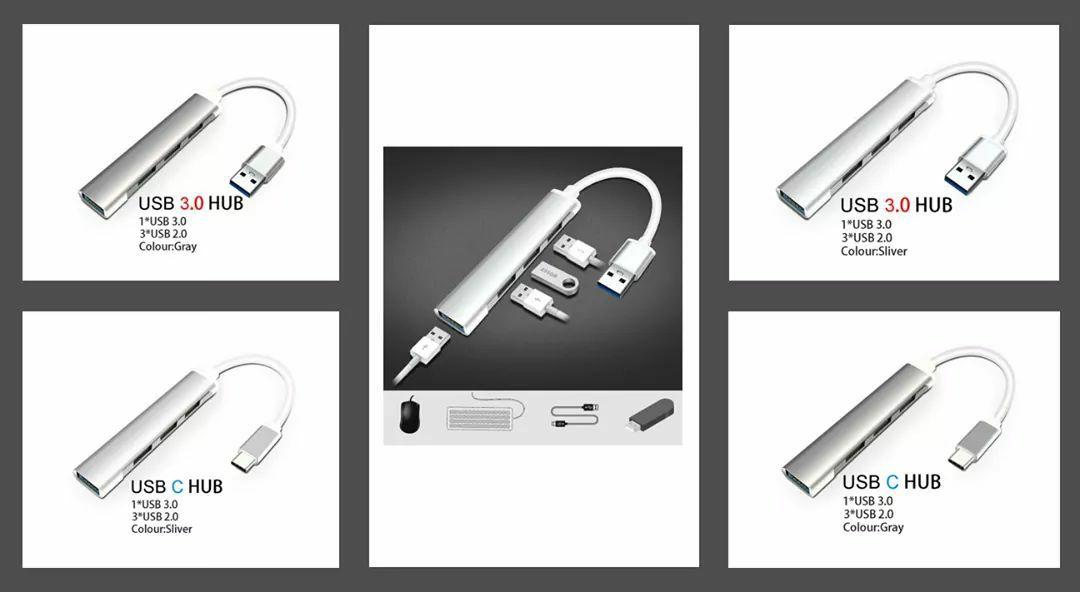 Een USB-C of USB3.0 HUB normaal €6,74 nu met code: €2,52