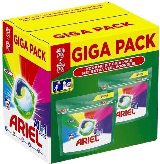 Ariel Color Pods Gigapak 140 stuks (20ct/pod) & gratis verzending @ Trekpleister