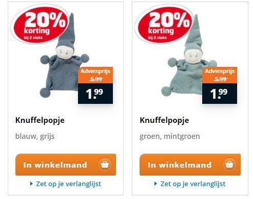 Bij 2 stuks Speelgoed 20% extra korting @Trekpleister