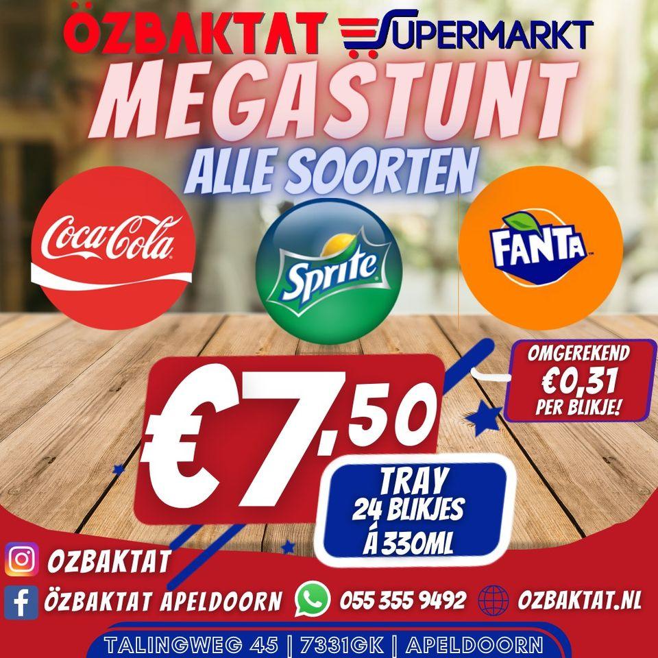 [Apeldoorn] Trays (24x 33cl) frisdrank voor €7,50 @Özbaktat
