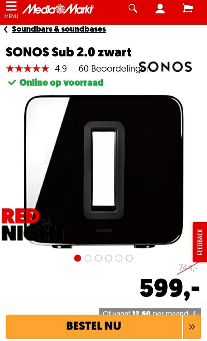 Sonos sub 2.0 black
