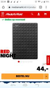 Seagate 1tb externe harde schijf (STEF1000401) €44 MM rednight deal