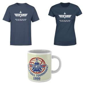 Top Gun bundel: dames of heren t-shirt + mok voor €9,99 @ Zavvi