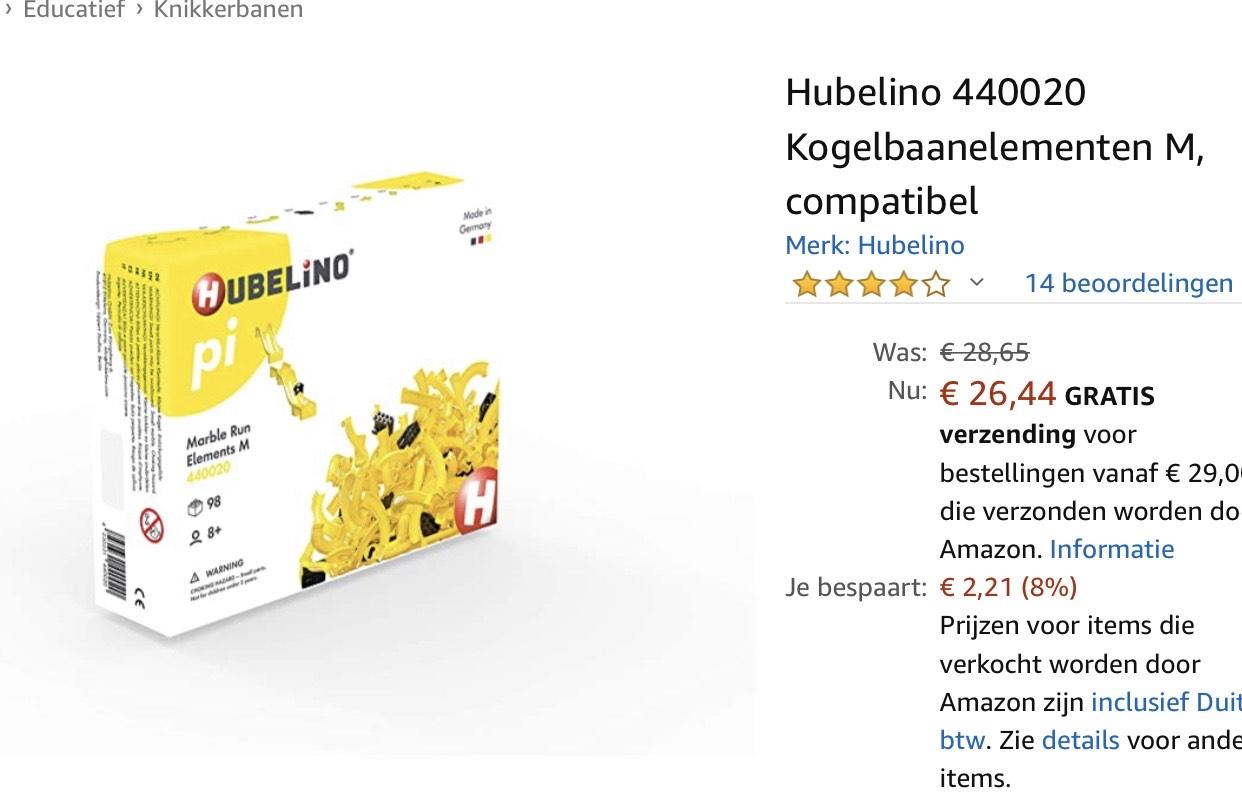 Hubelino Pi knikkerbaan voor aan Lego @ Amazon.de