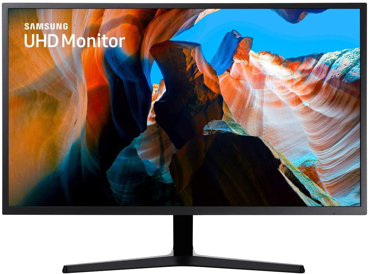 Samsung U32J592UQU (32 inch) monitor (HDMI, 4ms (G / G), UHD, DP, 3,5 mm koptelefoon, 3.840 x 2.160 pixel 270 cd / m²) donkerblauw grijs