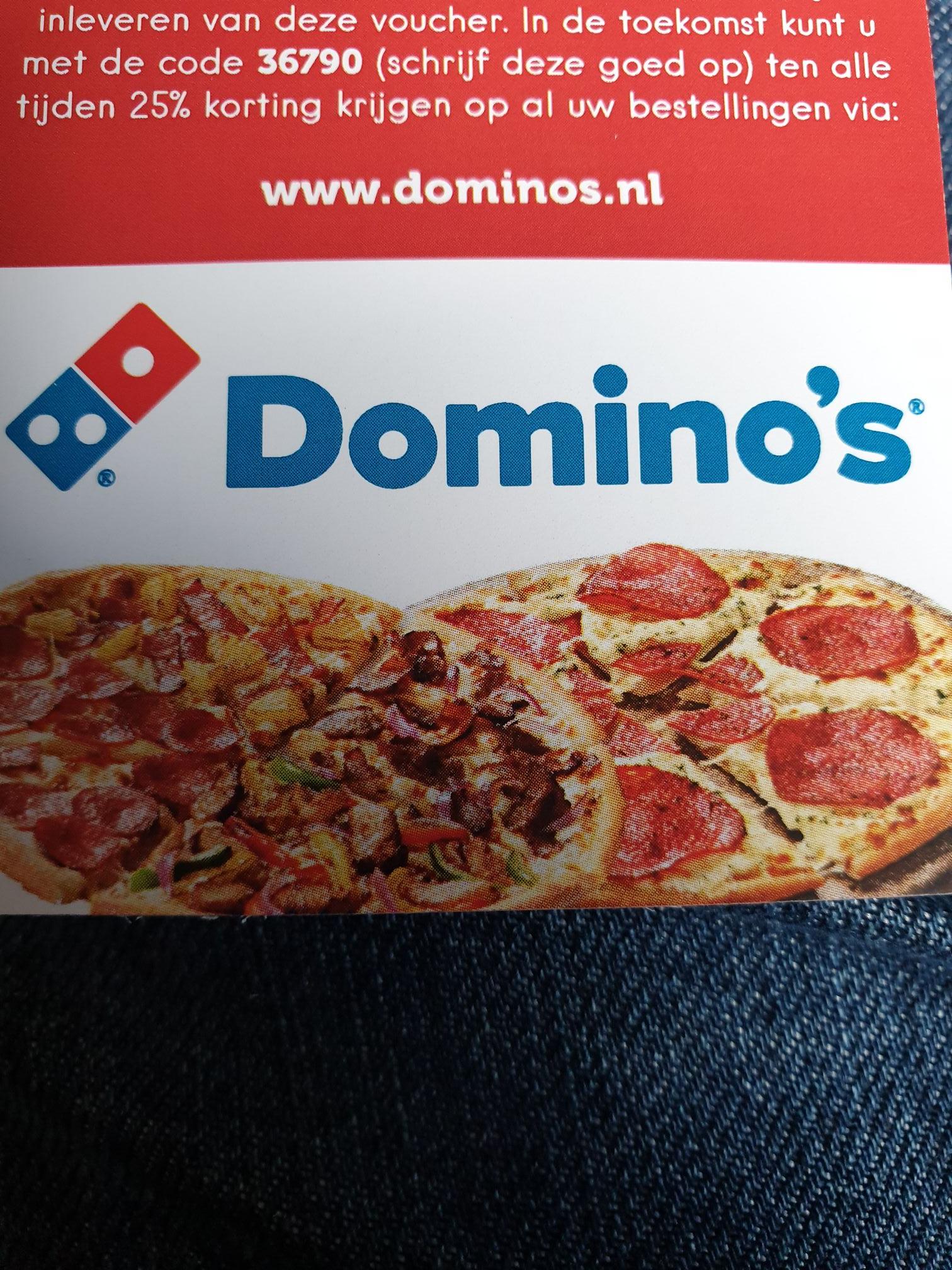 (Breda) 25% online korting bij dominos