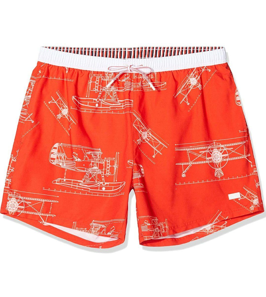 Hugo Boss Heren zwembroek (Oranje)