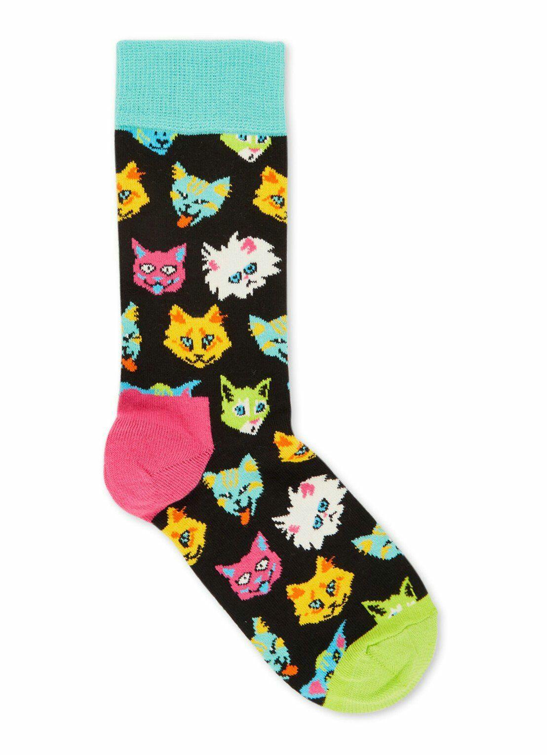 Happy Socks Funny Cat sokken of Happy Socks Pizza sokken (maat 36-40) @Bijenkorf