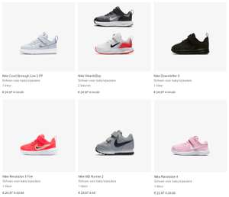 Sneakertjes SALE: €22,97 // €24,97 @ Nike