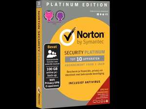 Norton Security Platinum Edition voor 10 apparaten (1 jaar)