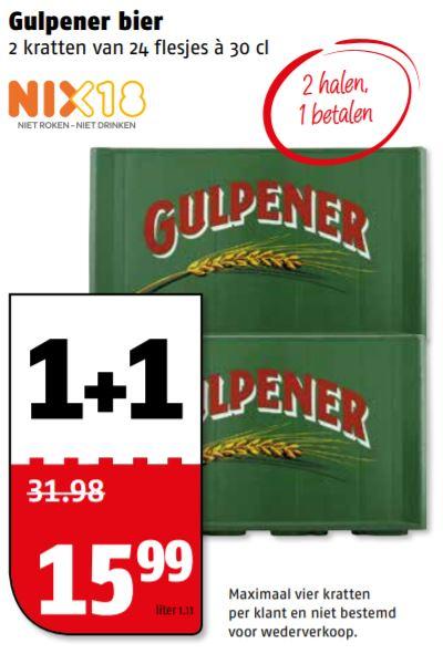 Krat Gulpener 1 + 1 gratis @Poeisz