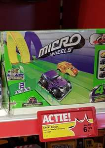 Micro Wheels 2 Looping Speelgoedracebaan @Kruidvat
