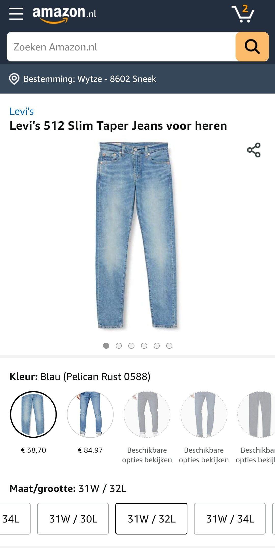 Levi's 512 Slim Taper Jeans voor heren
