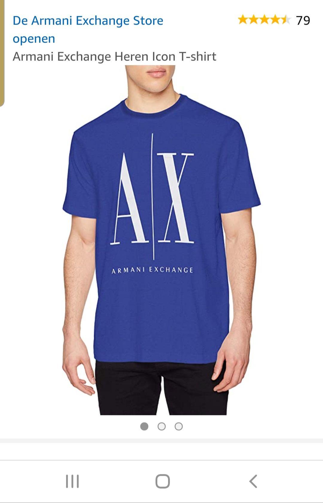 Armani exchange t shirt maat xs