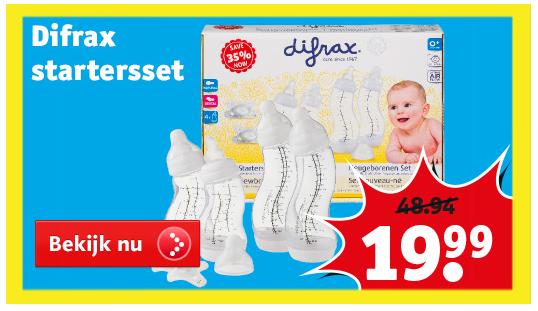 Difrax Starterset pasgeborenen €19,99 @ Kruidvat