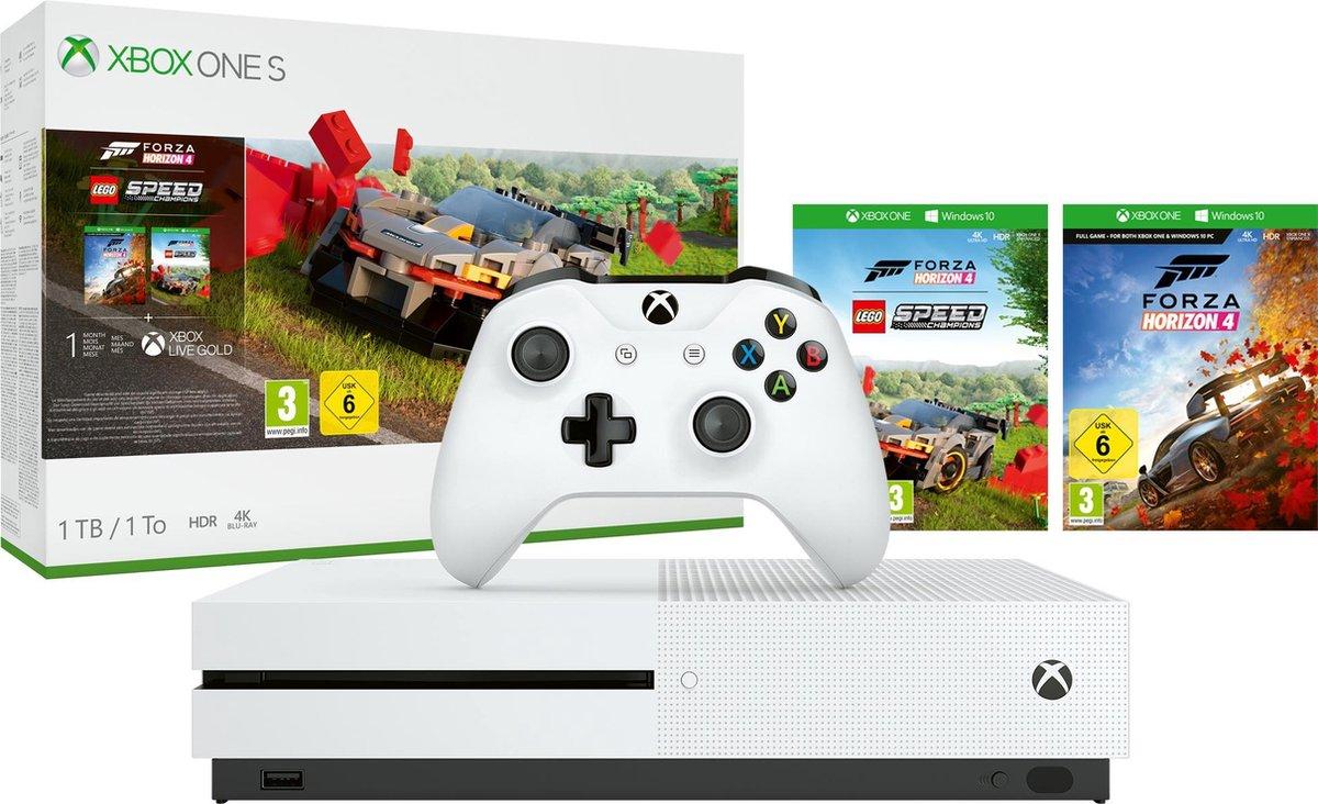 Microsoft Xbox One S 1TB + Forza Horizon 4 + Lego DLC Wit @ Media Markt