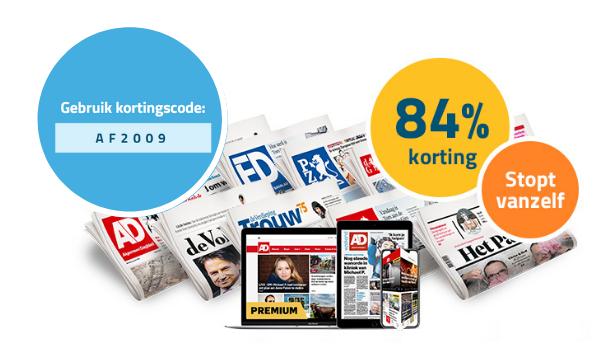 Max 6 weken de krant voor maar €2,-