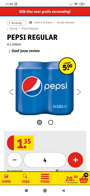 Pepsi, 7-up, Sisi 16blikjes voor €5! Kruitvat
