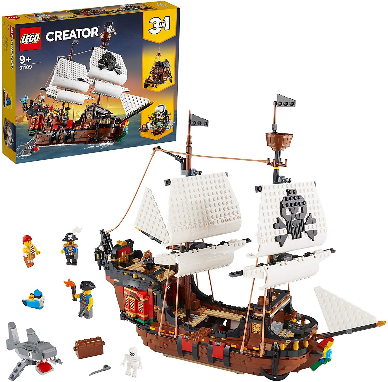 Lego Creator 31109 3-In-1 Piratenschip Speelgoedmodel Bouwset Speelset, Meerkleurig