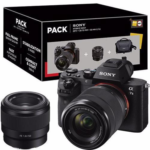 Sony A7 II + 50mm f1.8 lens + 28-70mm zoom + cameratas + 32GB Kaartje