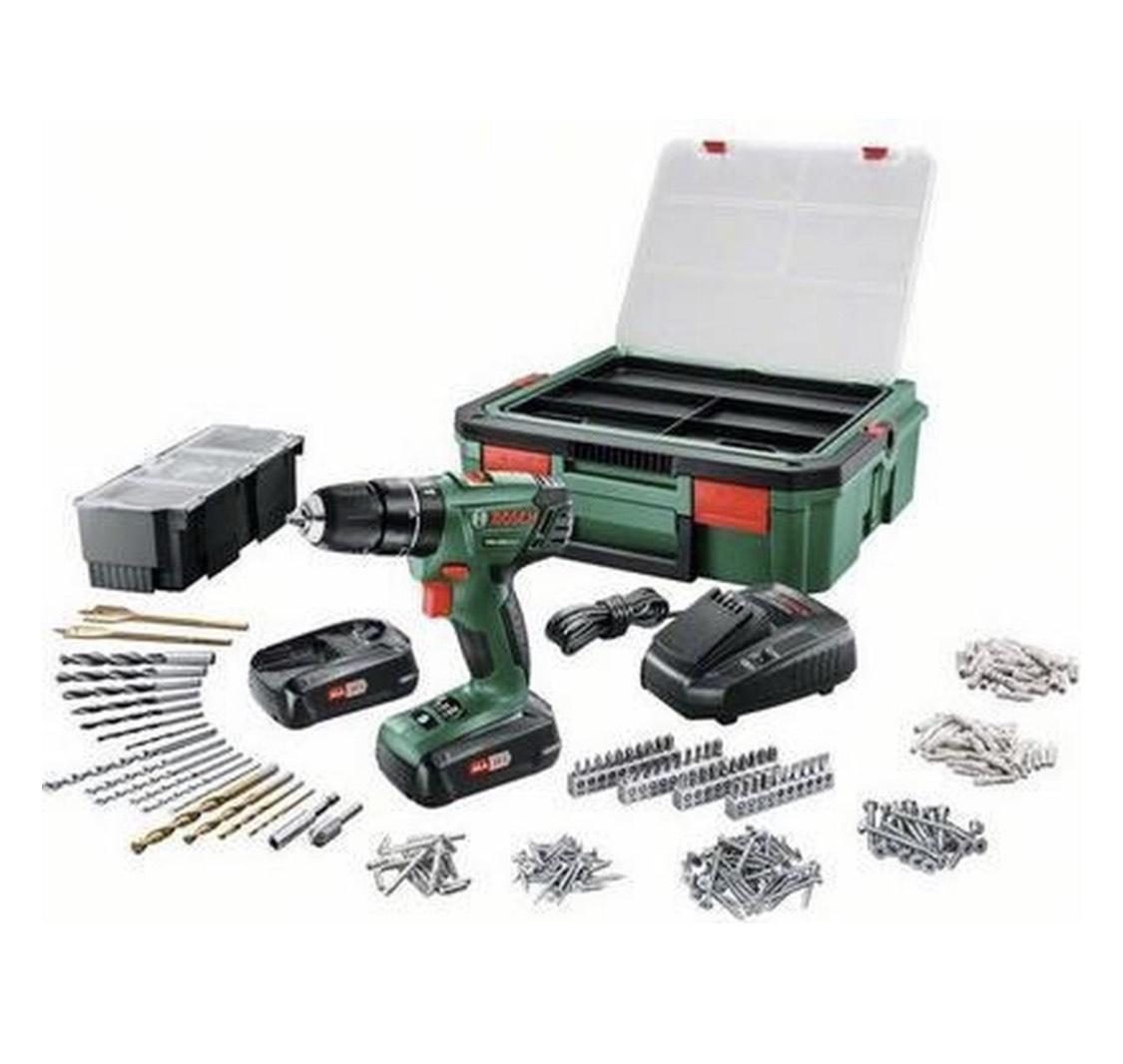 [Select deal] Bosch PSB 1800 LI-2 klopboormachine Incl. 2 accu's & 241 accessoires