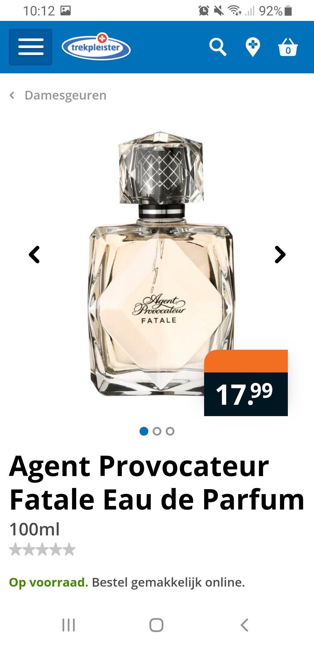 Trekpleister: Agent provocateur Eau de Parfum