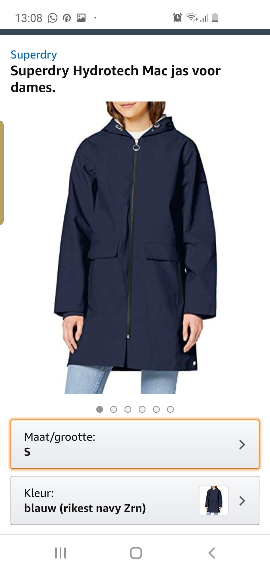 Superdry Hydrotech Mac jas voor dames