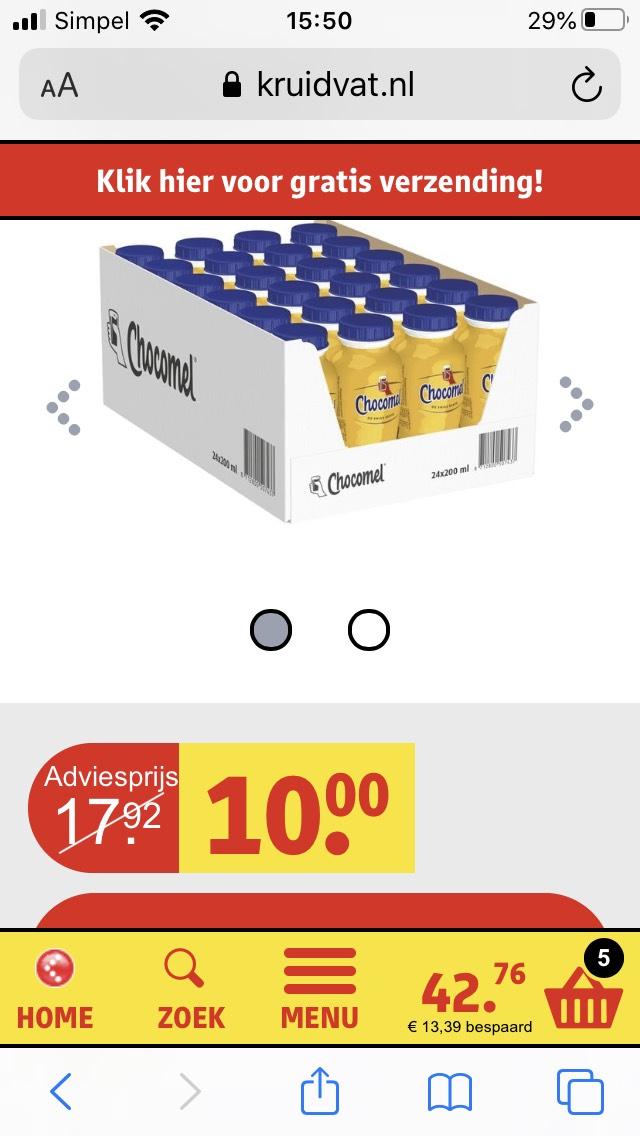 24 flesjes chocomel a 200ml
