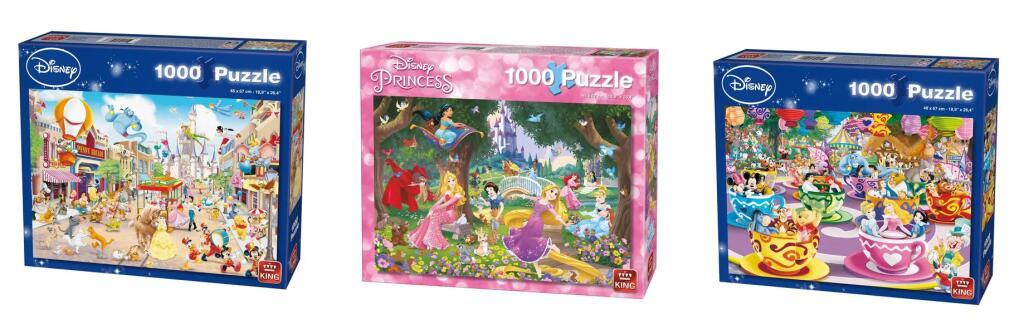 King puzzels Disney 1000 pcs voor €3,89 per puzzel @ Kruidvat NL