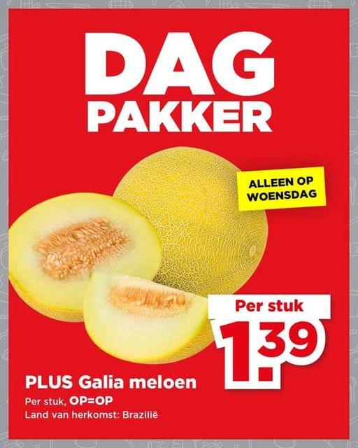 Galia meloen voor €1,39 @PLUS (DagPakker week 38)