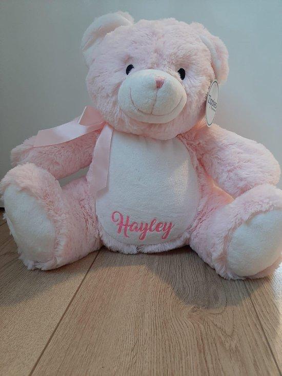 MissSiepie Roze beer knuffel met naam kind @bol.com (externe verkoper)
