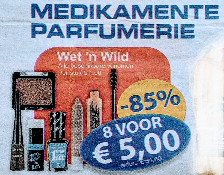 Make-up : Wet 'n Wild, alle beschikbare varianten, 8 voor 5 euro