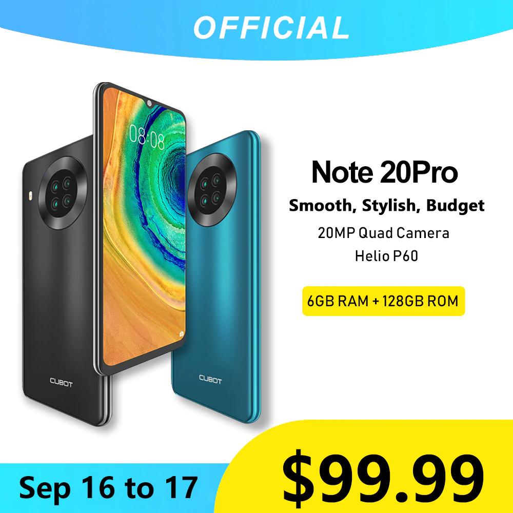 Cubot Note 20 Pro (Quad Camera mobieltje 6 Gb + 128 Gb)