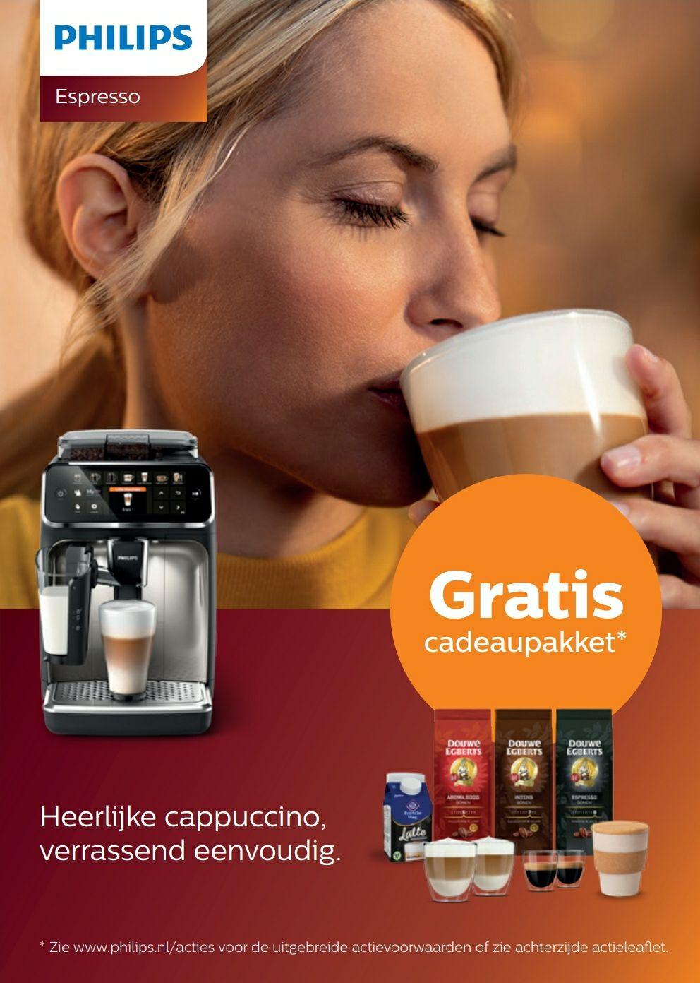 Gratis koffiepakket bij Philips espresso volautomaat