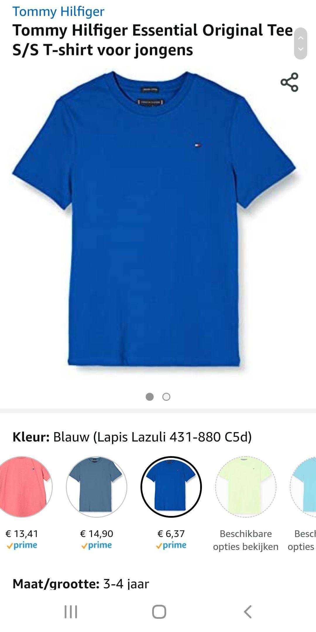 Tommy Hilfiger Essential Original Tee S/S T-shirt voor jongens
