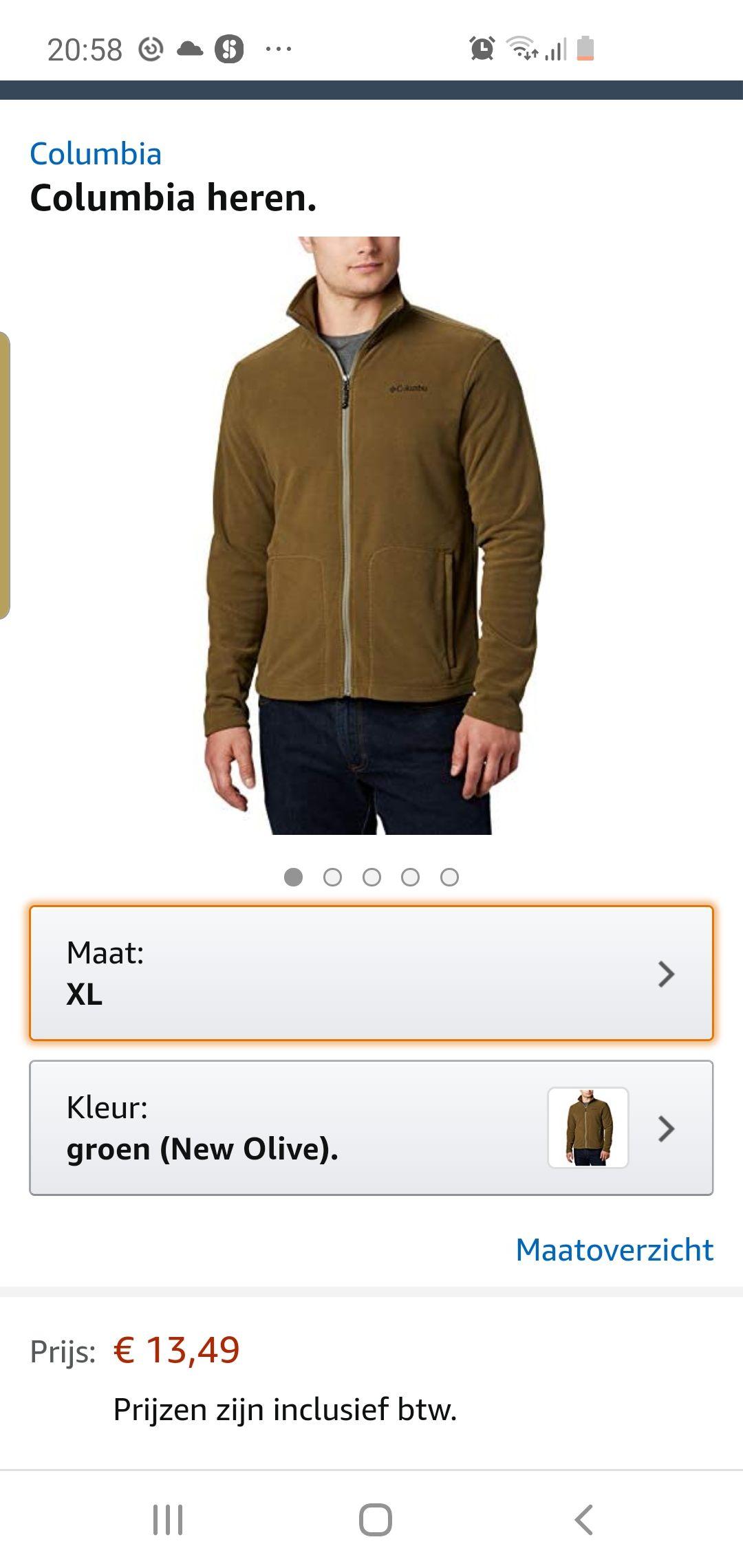 Colombia fleece jacket alleen maat xl
