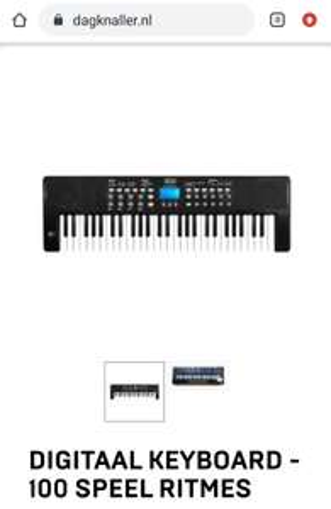 Digitaal keyboard 54 toetsen (vooral geschikt voor beginners/kinderen)