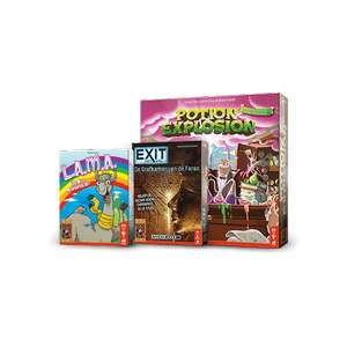 Pakket met drie prijswinnende spellen @999 Games