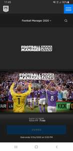 Football Manager 2020 (PC) gratis in Epic Games Store