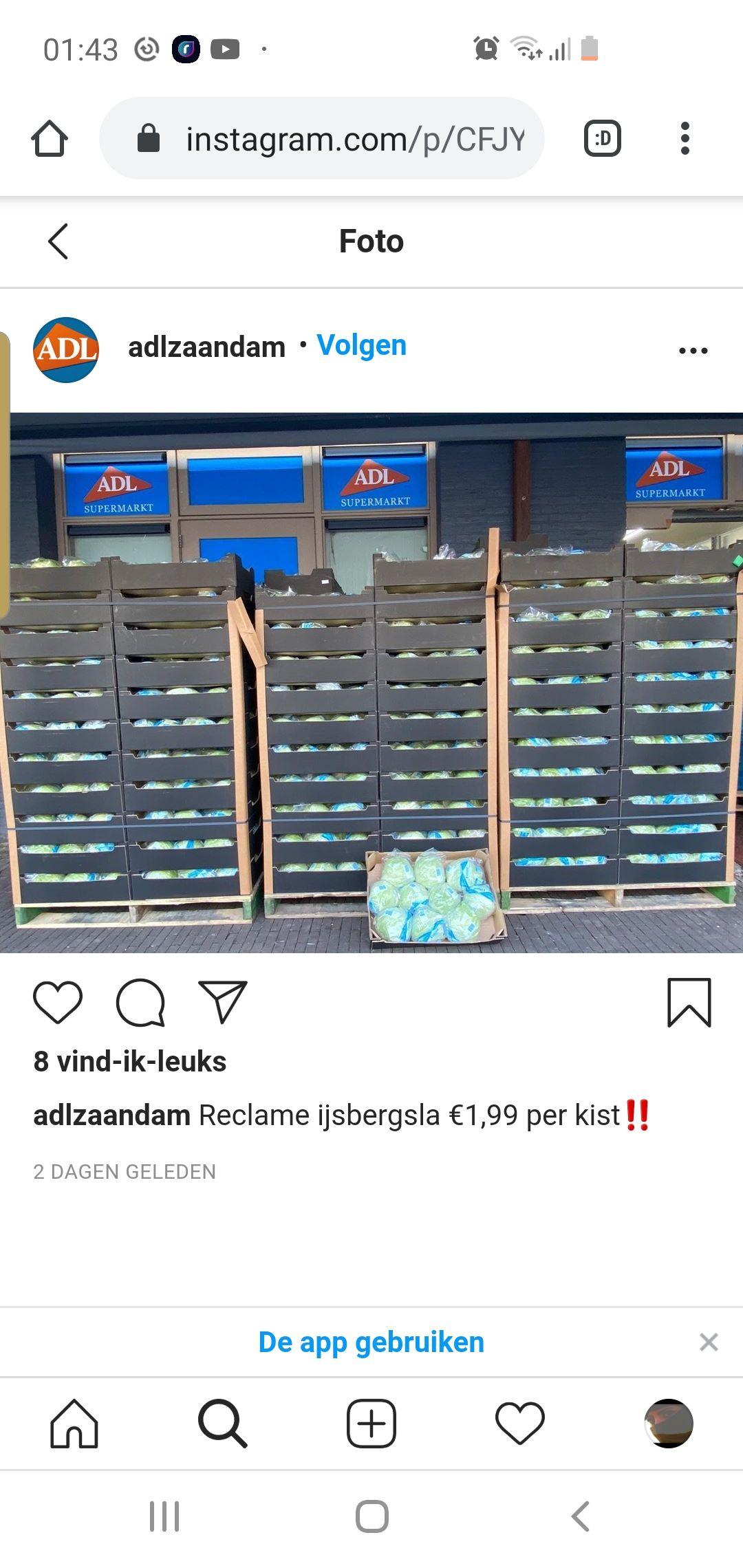 [lokaal] Kist ijsbergsla @ ADL supermarkt Zaandam