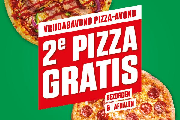 elke 2e pizza gratis bij New York Pizza.
